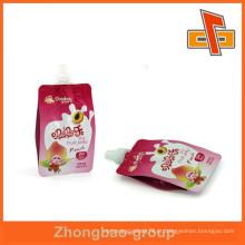 Bico de bebidas à prova de umidade, bico de gusset lateral para geléia de embalagem ou líquido
