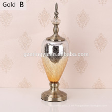El ornamento para la resina casera florece la botella decorativa de la resina de la familia de la botella del procelain