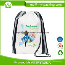 Nonwoven oder Polyester Printed Student Drawstring Bag
