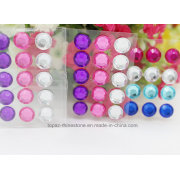 6mm Self Stick 3D Clear Crystal Epoxy Stickers Color Crystal Sticker (TS-540)