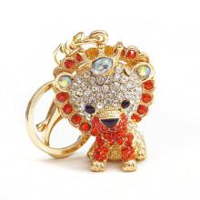 2015 moda keychain feito sob encomenda keychain do metal keychain do rhinestone do leão venda por atacado