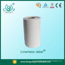 Comercio al por mayor alibaba comercio garantía linerless etiqueta para supermercado