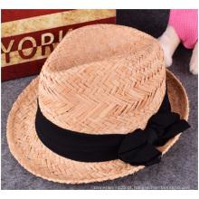 Novo chapéu de palha, verão quente moda praia lazer chapéu de palha