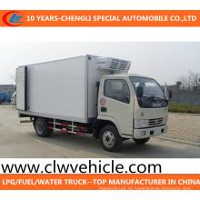 O caminhão refrigerado 4X2 do refrigerador de Dongfeng refrigerou o caminhão Van de congelador do caminhão