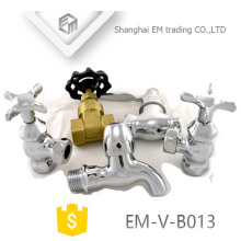 EM-V-B013 Außengewinde kurzer Körper Messing Polishing Bibcock