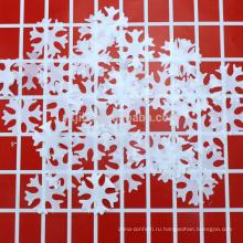 Цзилэ Лавсановой фольги конфетти индивидуальные формы металлический стол конфетти с Снежинка