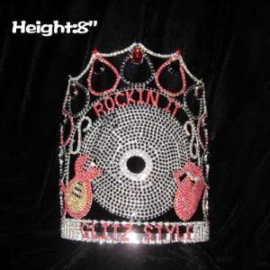 8 pulgadas de altura Crystal Music Guitar Pageant Crowns