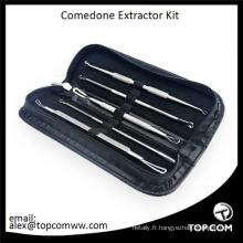 Ensemble d'outils d'extracteur de points noirs Art Naturals pour l'acné du visage et les comédons