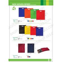 Lable privé non tissé à usage promotionnel shopping, sac à provisions pliable polyester tissu non tissé, sacs tissés, sacs, promotion
