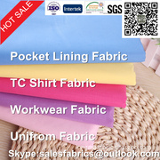 TC POCKET LINING FABRIC ,TC SHIRT FABRIC,WORKWEAR FABRIC ,UNIFROM FABRIC