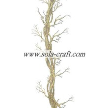 Wholesale Price for Dry Tree Branches 100m Plastic Artificial Wedding Tree Branch Cane With Silver supply to Spain Supplier