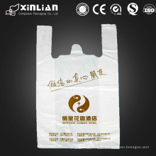 Prix d'usine sac à provisions en plastique personnalisé pour t-shirt