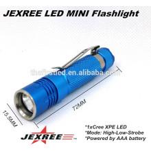 JEXREE 3W 300LM XPE Lampe LED 3 Modes mini lampe rechargeable à LED