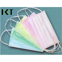 Medical Non Woven Face Mask Disposable Tie Cone Earloop Types Kxt-FM21