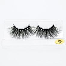 Wholesale 3D 5D 25mm Mink Eyelashes Extensions False Lashes with Customized Package Logo for Cosmetic