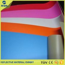 Cuero sintético reflexivo del PVC del color de alta calidad para los bolsos / los zapatos