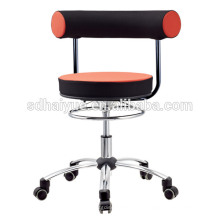 2017 Hot selling PU molded cushion black orange mesh computer chair task chair