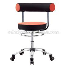 2017 горячий продавать искусственная литая подушка черный оранжевый сетки компьютер стул стул