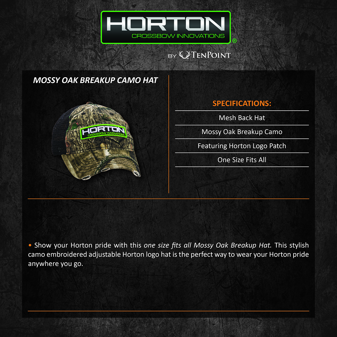 Horton_Crossbow_Camo_Hat_Product_Description