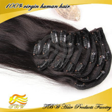 Chinese Supplier 100% Unprocessed human hair easy clip on hair pieces for fashion woman