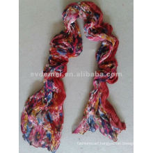 lady crumple polyester flower scarf importers in dubai