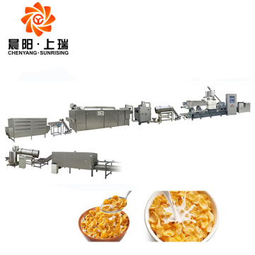 Máquina de producción de copos de maíz de extrusión de cereales para el desayuno