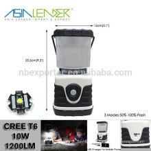 12 Hours Lighting 4000mah Li-ion Battery Operated Plastic Cree T6 600 Lumen LED Camping Lantern Speaker