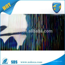 Self adhesive holographic foil