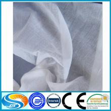100% Material de algodón y artículos en stock Suministro de tela gris voile