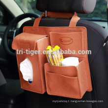 PU Leather car back seat organizer for kids
