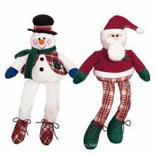 Фаршированный плюшевый рождественский снеговик