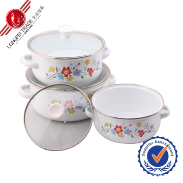 Classical Eco-Friendly Kitchenware Enamel Cookware Set