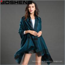 Большая сетка зимних женщин теплая решетка большой шарф шаль