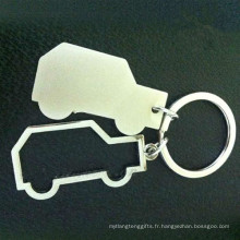 Cadeaux promotionnels Zinc Alloy Couple Car Shape Key Ring (F1251)
