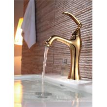 Luxo banhado a cobre Deck montado torneira da bacia