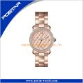 Art- und WeiseEdelstahl-Genf-Diamant-Quarz-Handgelenk-Dame-Uhr-Frauen-Uhr