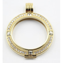 18k Gold Plated Stainless Steel Floating Locket