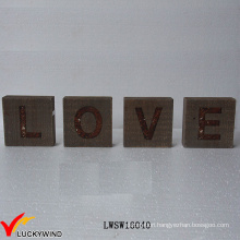 """Love"" Recycle Wood Wholesale Rustic Vintage Sign Freestand Letters"