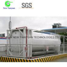 Conteneur de station-service de conteneur de GNL de type horizontal
