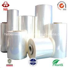 Mitte faltete Plastik POF-Schrumpffolie für Haustier-Flaschen-Verpackung