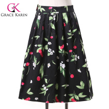 19 Colors ! Grace Karin Cheap Occident Short Women Vintage 50s Retro Cotton Printed Skirt CL6294-5#