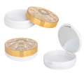 Diamond Gold Compact Powder Container With Mirror