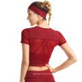 Women's Athletic Short Sleeves Sports Running Shirt