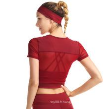 Chemise de course sportive à manches courtes pour femmes