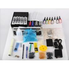 Kit con fuente de alimentación de equipo del sistema de ametralladoras 2 de rotativo Digital tatuaje tatuaje