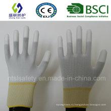 13Г Подкладка-полиэстер с полиуретановым покрытием работы перчатки безопасности (PU205)