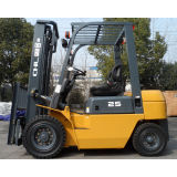 Diesel power Industrial Forklift Truck 2500kg rated capacity with 5 meters 3 stage mast