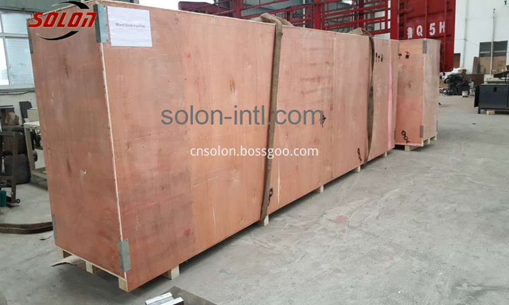 wood machine packing