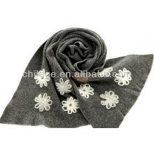 ladies fashion knitting embroideried scarfs