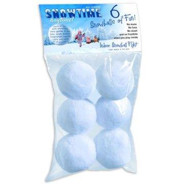 Combat de boule de neige intérieur - Ensemble de 6 boules de neige à double taille